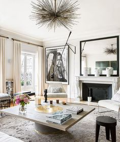 """A #parisian #apartment decorated by @emmadonnersberg #stephanjulliardphotography styling…"""