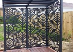 Decorative Panels Our high quality Habitat Decorative Panels are manufactured from aluminium that will not rust, warp or rot, guaranteeing you years of maintenance free enjoyment. Habitat Decorative Panels are perfect for both internal or externa Patio Privacy, Pergola Patio, Backyard Patio, Backyard Landscaping, Pergola Screens, Pergola Kits, Outdoor Screen Panels, Privacy Panels, Fence Panels