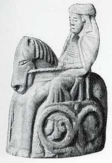 A Swedish depiction of a queen as a chess piece carved in bone in the times of Queen Estrith.  (c. 1000-1022 CE--a bit late for the Viking age).