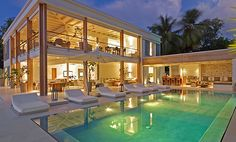 Outstanding Coastal House with Pool Design : Stunning Barbados Beach House Exterior Design With Swimming Pool