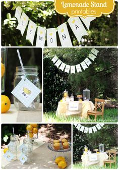 lemonade stand printables - This would be such a cute idea for a spring picnic party in the neighborhood.
