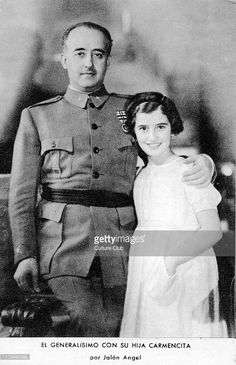 Francisco Franco with his daughter, Carmen