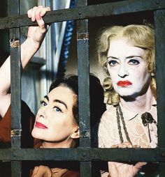 """Joan Crawford and Bette Davis in, """"Whatever Happened to Baby Jane?"""""""