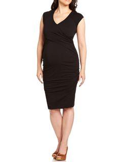sleeveless criss cross maternity dress