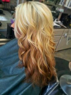 Reverse Coppery Ombre