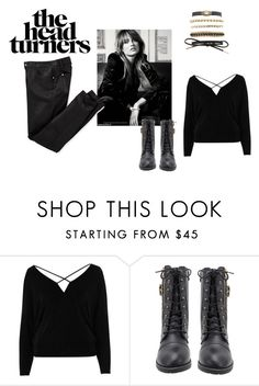 """""""rock and roll train"""" by pegiiisu ❤ liked on Polyvore featuring River Island and Charlotte Russe"""