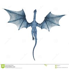 cartoon flying dragon | Royalty Free Stock Photography Blue Dragon Flying