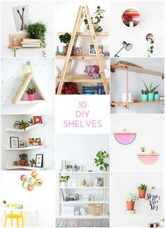 10 Amazing DIY Shelves