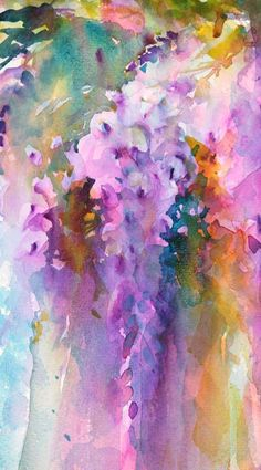 Wisteria in Watercolour: I adore painting these beautiful flowers