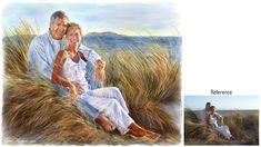 Adults Portrait Painting An engagement portrait!
