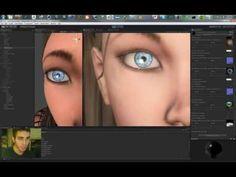 Unity3D - Parallax Eye and Kajiya-Kay/Marschner Hair Shader - YouTube