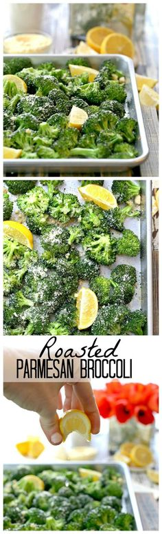 Roasted Parmesan Broccoli with Garlic and Lemon, HEAVEN! This is the BEST and EASIEST side dish on the internet!