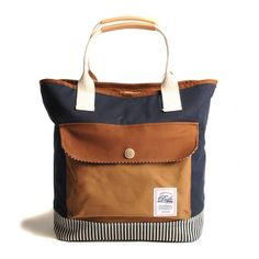 Navy + Brown Tote from DRIFE