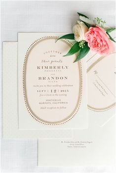 Gold Portrait by Phrosne Ras Design * Photo Credit Photography: Erin Milnik Pastel Wedding Invitations, Wedding Invitation Cards, Wedding Cards, Invitation Suite, Invitation Ideas, Invites, Oriental Wedding, Timeless Wedding, Wedding Paper