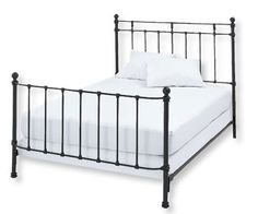 I have a iron bed from Brass beds of Virginia and LOVE it.  Much prettier then this one.