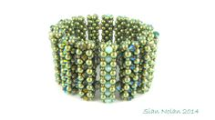 Picket Fence Bracelet Pattern  Cubic Right Angle by SianNolan, $8.00 - uses over 700 pearls!