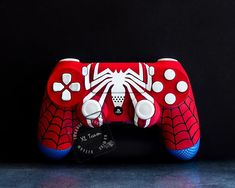Custom Spiderman Themed PlayStation 4 PS4 DualShock 4 Controller