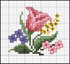 Letras e Artes da Lalá: Gráficos de ponto cruz: flores e pássaros. Fotos: google.