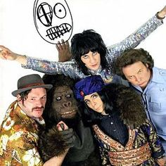The Mighty Boosh From left to right: Howard Moon (Julian Barratt), Bollo (Dave Brown), Naboo the Enigma (Michael Fielding), Vince Noir (Noel Fielding) and Bob Fossil (Rich Fulcher). Mighty Mighty, The Mighty Boosh, British Humor, British Comedy, Movies Showing, Movies And Tv Shows, Dave Brown, Julian Barratt, English Comedy