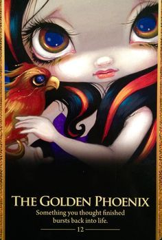 """Daily Angel Oracle Card: The Golden Phoenix, from the Oracle Of The Shapeshifters, by Lucy Cavendish The Golden Phoenix: """"Something you thought finished bursts back into life"""" About the Golden Phoe..."""