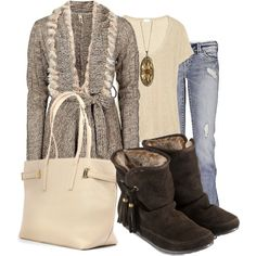"""Belted Cardigan"" by anne-ratna on Polyvore"