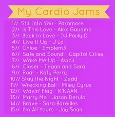 Great workout playlist for Fall 2013!