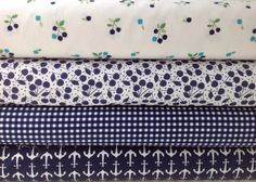 Fat Quarter Bundle: Navy Blue Stash Builder, Navy Blue Fabric, Fabric Bundle, Quilting Cotton