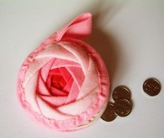 Shabby Chic Rosette Coin Purse