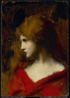 Head of a Girl, 19th century Jean Jacques Henner (French, 1829 - 1905) Painting, oil on cardboard, 26.7 x 18.7 cm Bequest of John Paris Bickell, Toronto, 1952