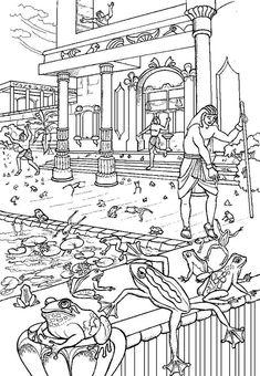 Na praga das rãs foi o próprio rio sagrado um ativo instrumento de castigo, juntamente com outros dos seus deuses. A rã era um animal consagrado ao Sol, sendo considerada um emblema de divina inspiração nas suas intumescências. O repentino desaparecimento da praga foi uma prova tão forte do poder de Deus, como o seu aparecimento. (Ex 8.1...)