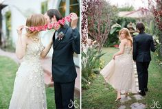 Vintage tea-length dress + simplicity + no shoes = absolutely perfect.  <3