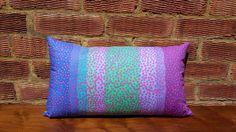 Bright Pattern Decorative Blue Green Purple Boho Throw Cushion 12''x20'' (Navy Zip) x1 on Etsy, $37.15 AUD