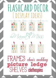 Flashcard Decor Display Ideas http://www.mamamiss.com ©2013