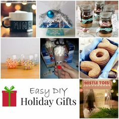 We all have holiday gift lists that goes on and on. So I have compiled some great DIY holiday gifts that are both inexpensive and adorable.