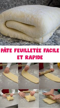 Easy and quick puff pastry - - Pizza Recipes, Cake Recipes, Beurre Vegan, Cake Decorating Piping, Pan Dulce, Brownie Cake, Dough Recipe, Everyday Food, Pizza Dough