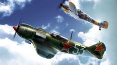 Lavochkin and Messerschmidt Fighters