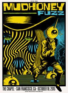 Mudhoney - Fuzz #gig #poster #art