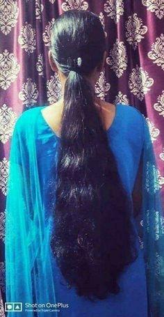 Indian Long Hair Braid, Long Hair Ponytail, Braids For Long Hair, Long Silky Hair, Long Black Hair, Thick Hair, Loose Hairstyles, Indian Hairstyles, Ponytail Hairstyles