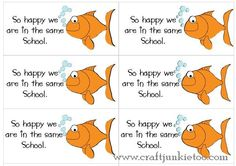 {Back to School} - 1st Day of School Goldfish Treats with Printable