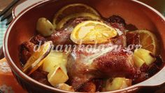Christmas Pork with orange Tasty, Yummy Food, Christmas Cooking, Christmas Time, Christmas Recipes, Special Recipes, Greek Recipes, Lunches And Dinners, Pot Roast