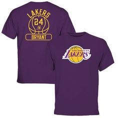 Kobe Bryant Los Angeles Lakers Purple Core Issued Name & Number T-Shirt