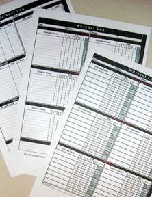 free printable workout log,