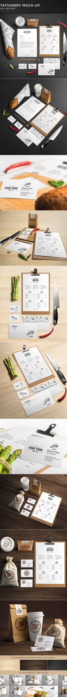 Stationery / Branding Mock-Up Mock-Up by Andrej Sevkovskij, via Behance