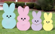This is for ONE Peep Bunny shown above!!  These are cut from 1/2 inch wood by me and hand painted by me!!  Please select color at checkout, blue, pink,