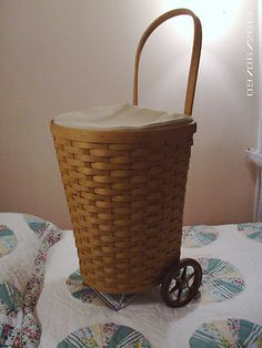 Longaberger Shopping Cart-2004 w/liner  protector Very Rare!