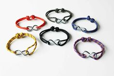 Infinity Rope Bracelet by AllBeta on Etsy, Diy Jewelry, Jewelry Bracelets, Jewelry Making, Infinity Bracelets, Jewellery, Overhand Knot, Climbing Rope, Bungee Cord, Paracord