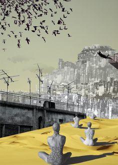 Touristic season_[Urban Crisis Resort #2] digital collage by Danai Gkoni[nolongeroutside] http://nolongeroutside.tumblr.com/