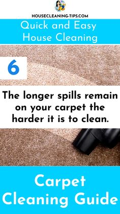 The Carpet Cleaning Guide: Discover What It Takes To Keep Your Carpet Looking Good #carpetcleaning #carpetcleaningtips #vacuumcleaners How To Clean Carpet, Clean House, Cleaning Hacks, Easy, Cleaning Tips