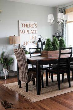 DIY Wood Centerpiece Dining Room