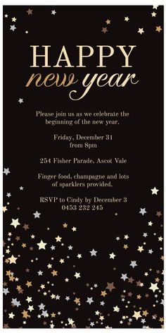 falling stars party invitations new years eve holidays new years eve holidays falling